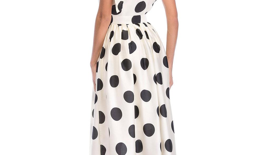 AZZARIA Women White/Black Dress long