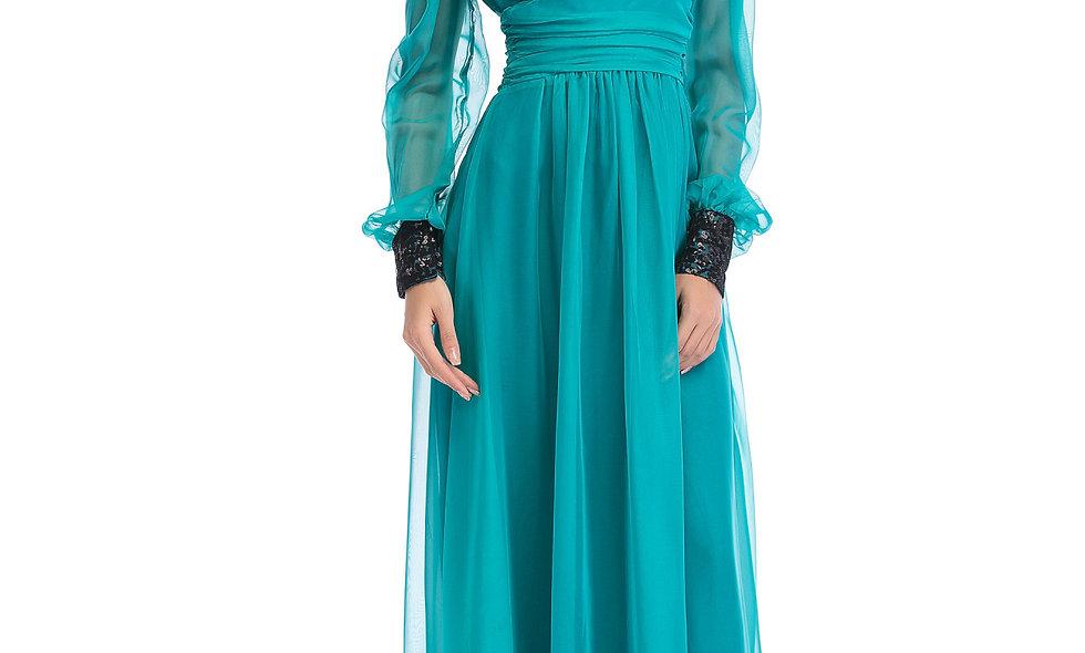 AZZARIA Women Aquamarine Dress long