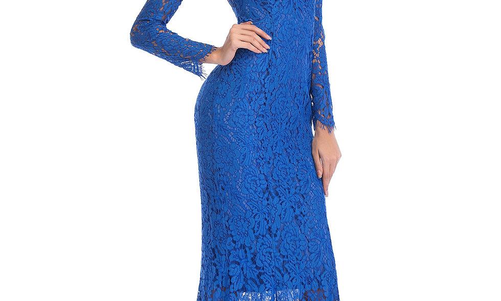 AZZARIA Women Blue Dress long