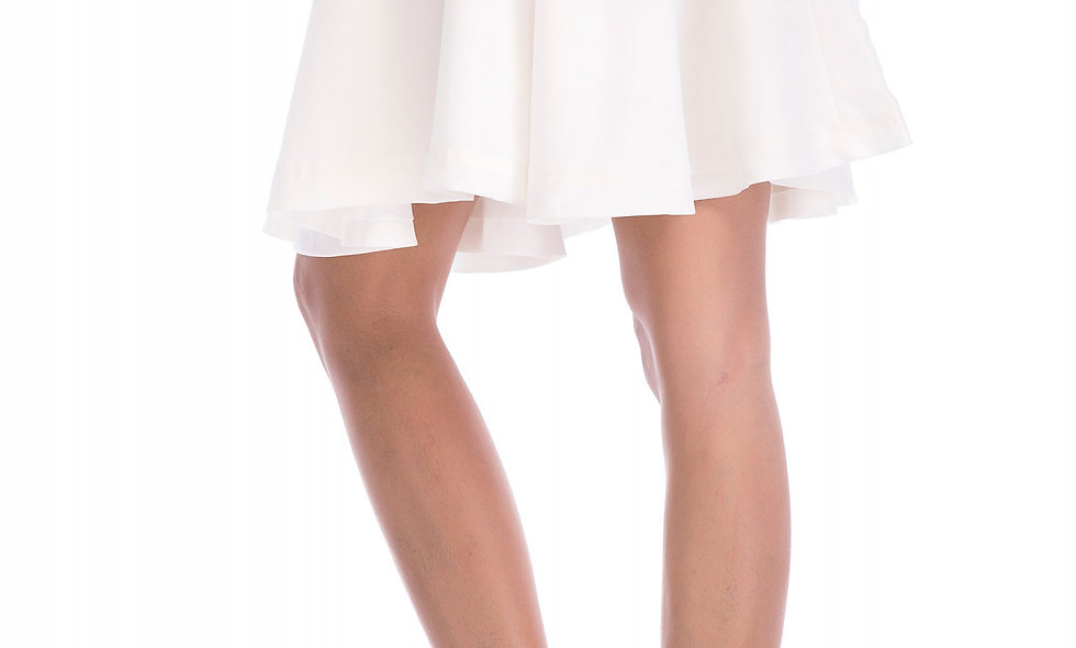 AZZARIA Women White Skirt short