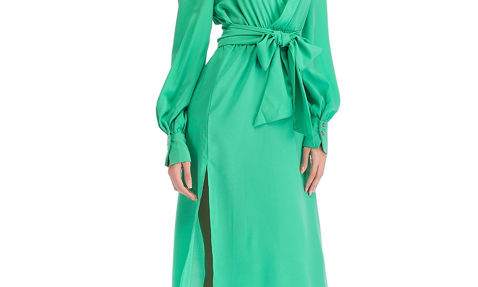 AZZARIA Women Mint Green Dress long