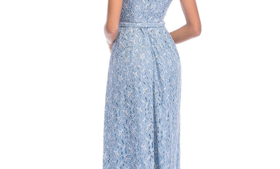 AZZARIA Women Flower Fantasia Blue Dress long