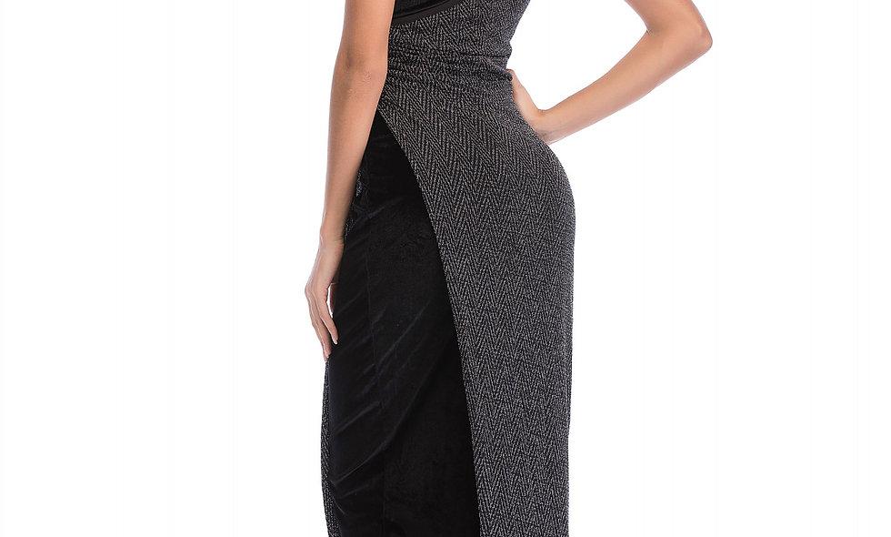 AZZARIA Women Silver/Black Dress long