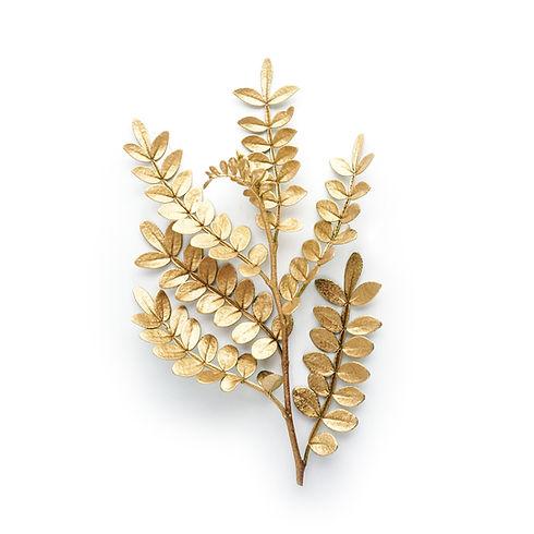 golden leaf design elements. Decoration