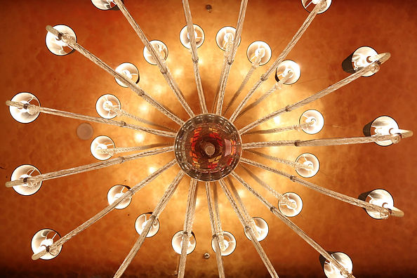 An image of a beautiful chandelier used in wedding decor