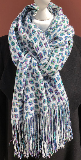 Mutli Coloured Flower Tencel Scarf