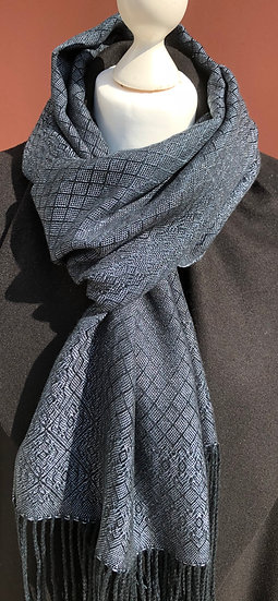 Black and Silver Lyocell Dress Scarf