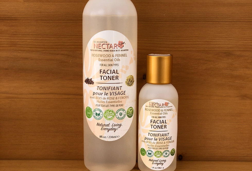 FACIAL TONER - with Rosewood and Fennel Essential Oils