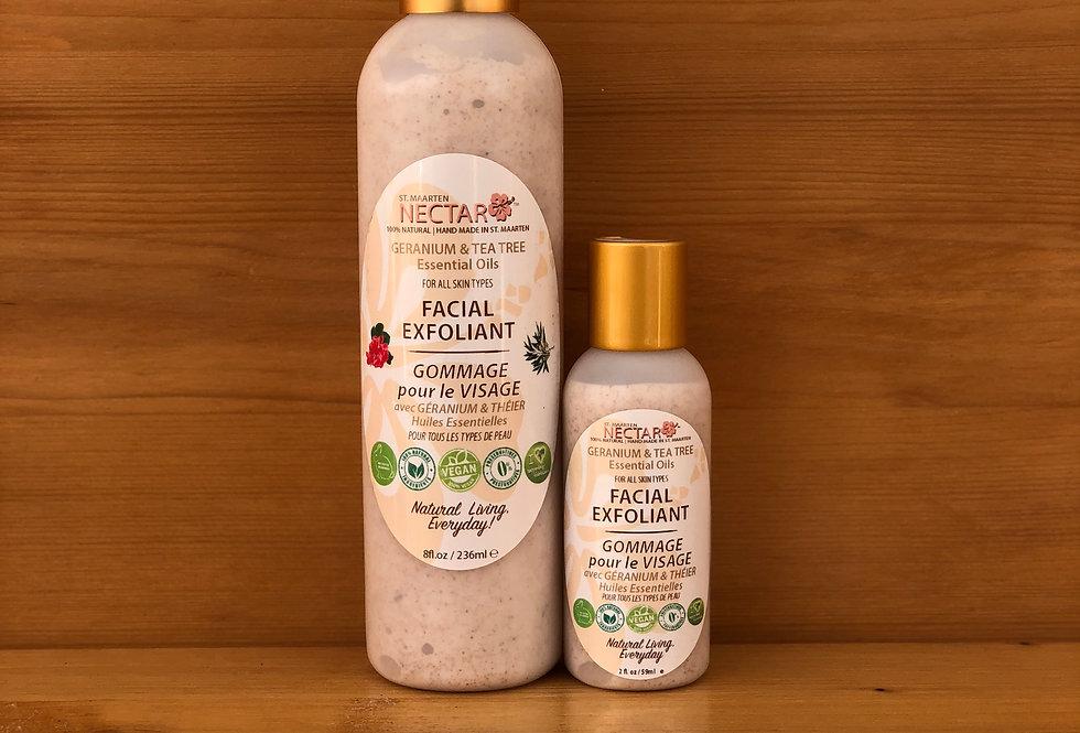 FACIAL EXFOLIANT - with Geranium and Tea Tree Essential Oils