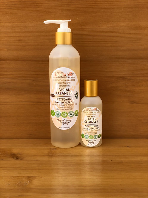 FACIAL CLEANSER - with Rosewood and Tea Tree Essential Oils