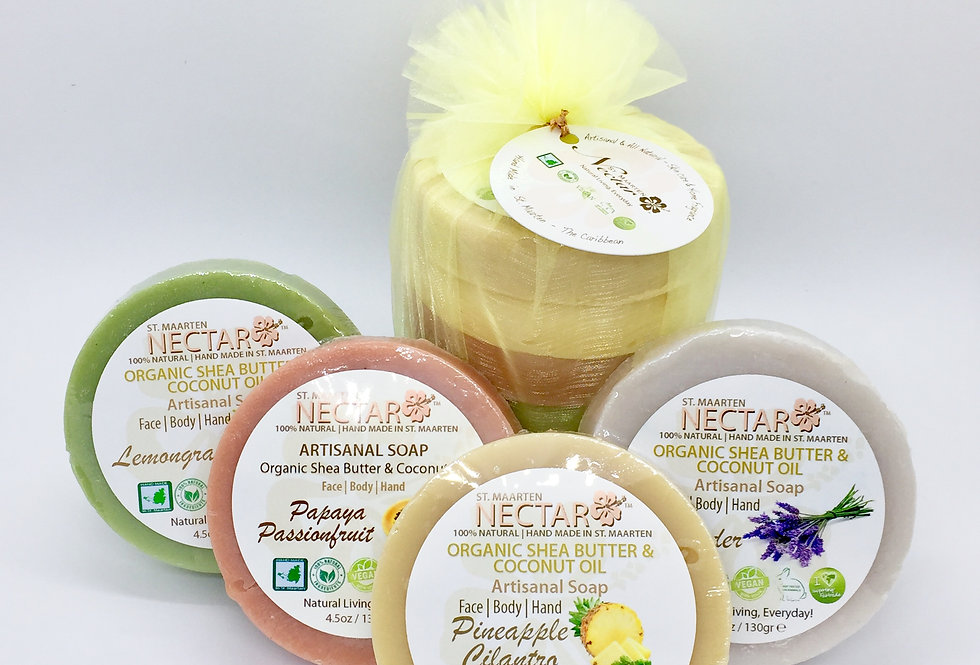 Shea Butter & Coconut oil soap Pack of 4