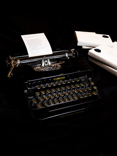 Your Words, Our Typewriter