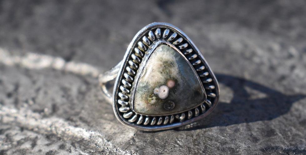 Ocean Jasper | 925 Sterling Silver | Ring Size 9.25
