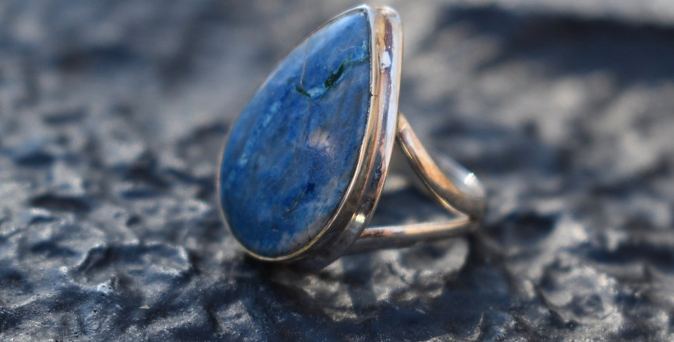 Chrysocolla | 925 Sterling Silver | Ring Size 7.25