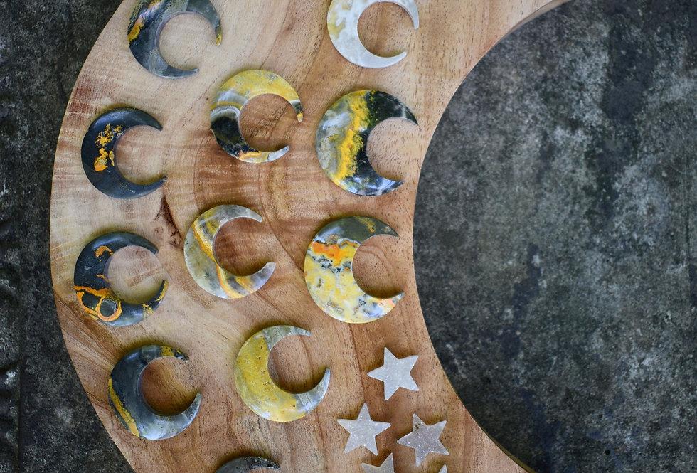 Bumblebee Jasper Crescent Moons