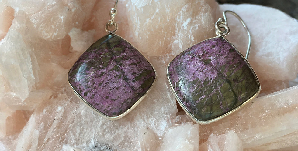 Purpurite | 925 Sterling Silver | Earrings