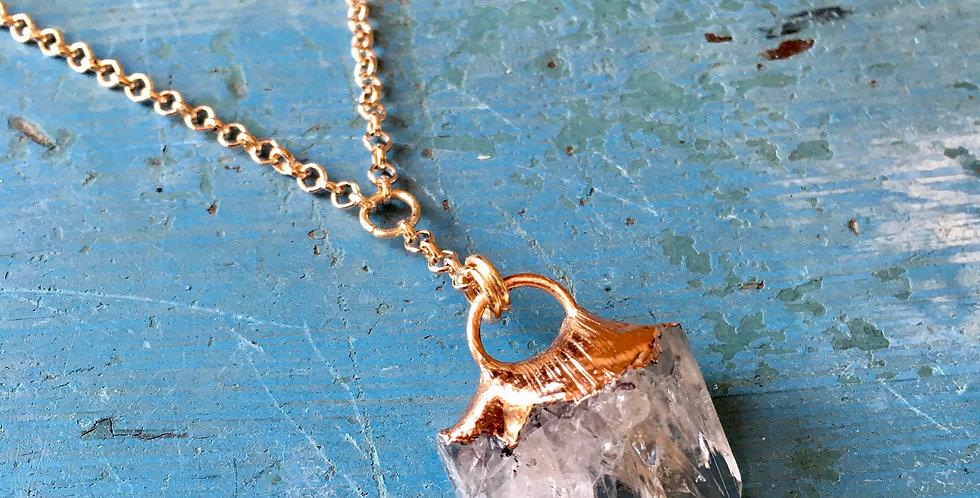 Danburite | Electroformed Copper | Pendant Necklace