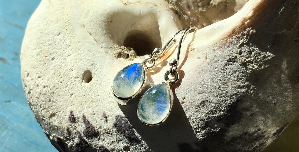 Teardrop Moonstone | 925 Sterling Silver Earrings