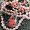 Thumbnail: Rhodonite | 108 Bead Mala | Rose Quartz Pink Opal