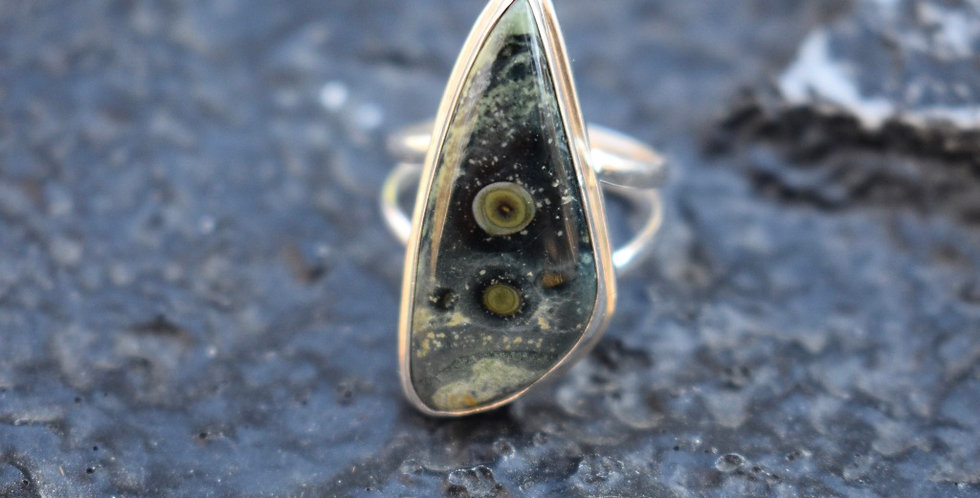 Star Galaxy Kambaba Jasper | 925 Sterling Silver Ring Size7
