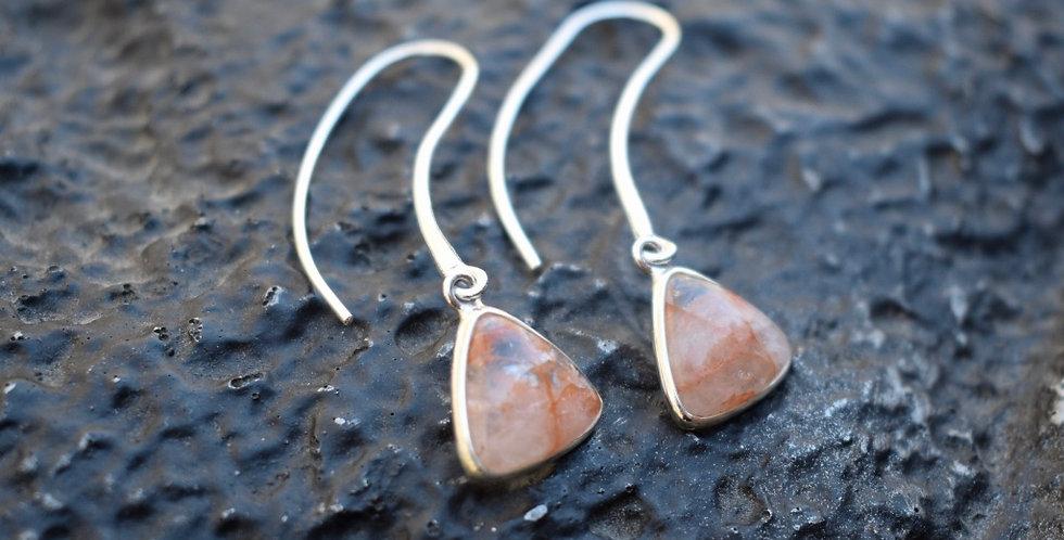 Hematoid Quartz | 925 Sterling Silver |  Earrings