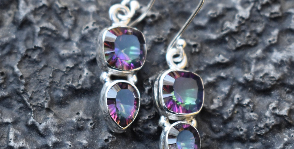 Mystic Topaz | 925 Sterling Silver | Earrings