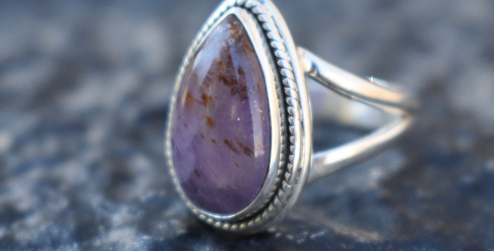 Cacoxenite   925 Sterling Silver   Ring Size 7.5