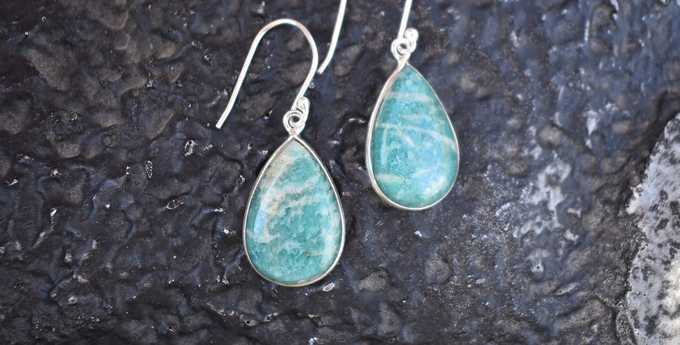 Russian Amazonite | 925 Sterling Silver | Earrings