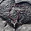 Thumbnail: Garnet Deer Stag Elk Head   Sterling Silver   Czech Glass Pendant Necklace