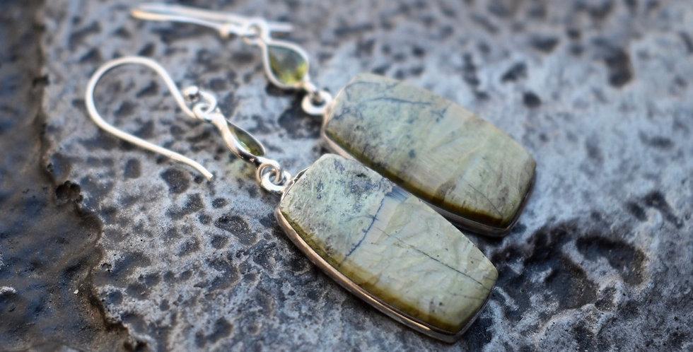 Imperial Opal - Tanzanian & Peridot | 925 Sterling Silver |  Earrings