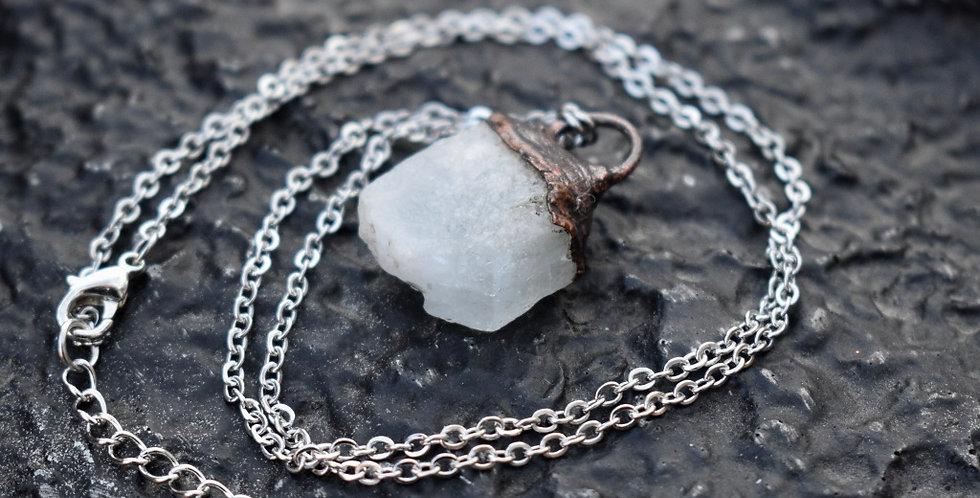 Aquamarine   Electroformed Copper   Pendant Necklace