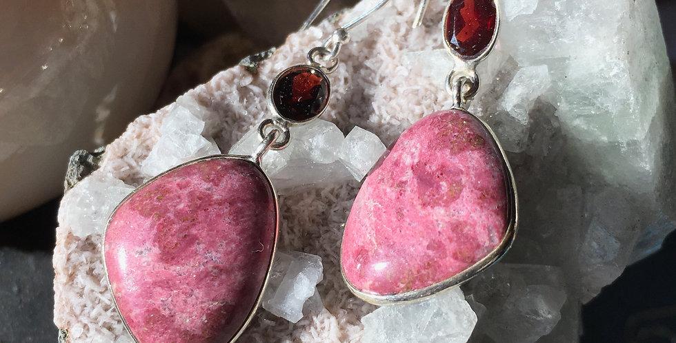Pink Thulite | 925 Sterling Silver | Earrings