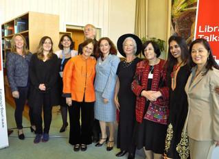UN library Talks in Geneva with leading women