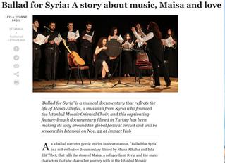 News article at Daily Sabah