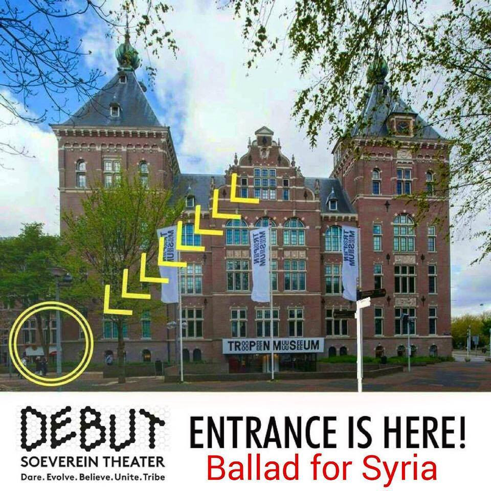 Ballad for Syria at Tropen Museum in Amsterdam.