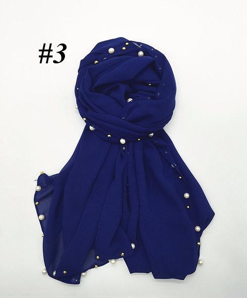 Maryam's Diamond Style Chiffon with Golden Beads Hijab