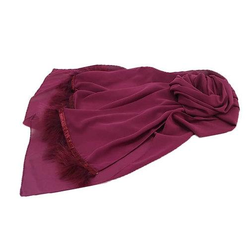 Maryam's Diamond Style Furry Feather Edge Chiffon Hijab