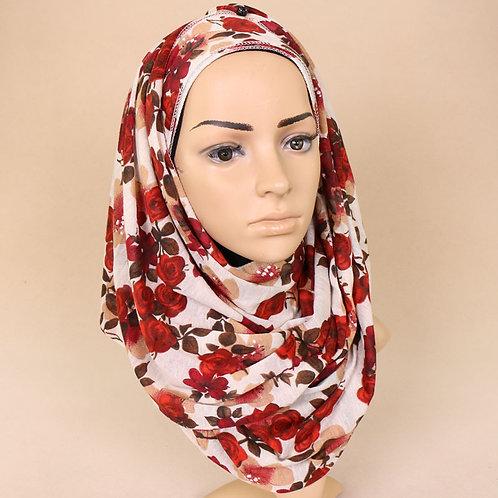 Maryam's Diamond Style Premium Printed Jersey Hijab/Shawl