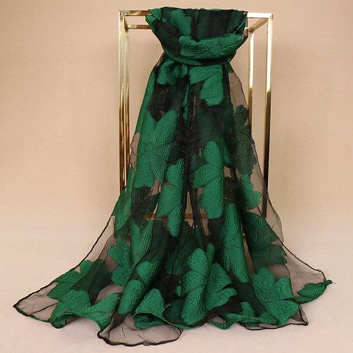 Maryam's Diamond Style Floral Organza Shawl/Hijab
