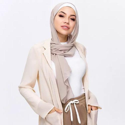 Maryam's Diamond Style Plain Soft Chiffon Scarf/Hijab