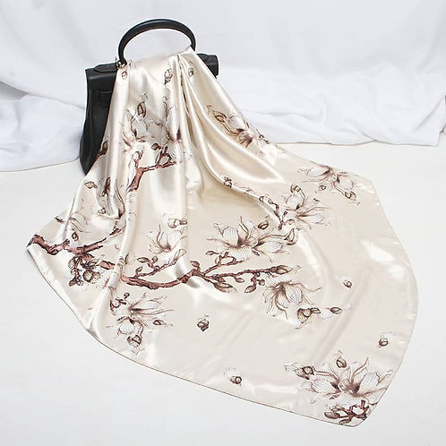 Maryam's Diamond Style Silk Polyester Printed Shawl/Hijab