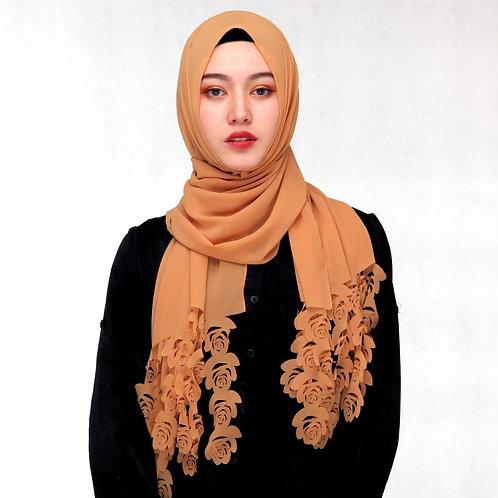 Maryam's Diamond Style Floral Pattern Chiffon Hijab/Scarf