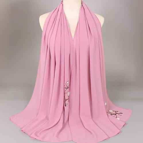 Maryam's Diamond Style Bubble Plant Pattern Chiffon Hijab/Scarf