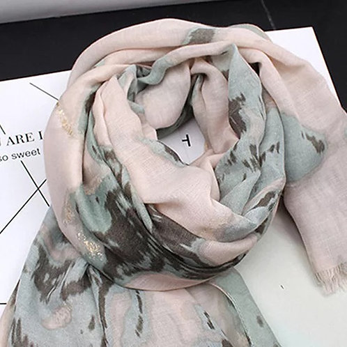 Maryam's Diamond Style Floral Cotton Viscose Hijab/Shawl