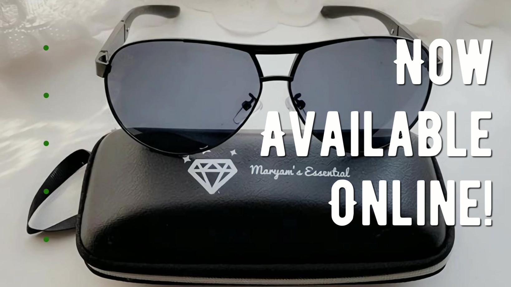 Maryam's Diamond Style Men's Aviator Pol