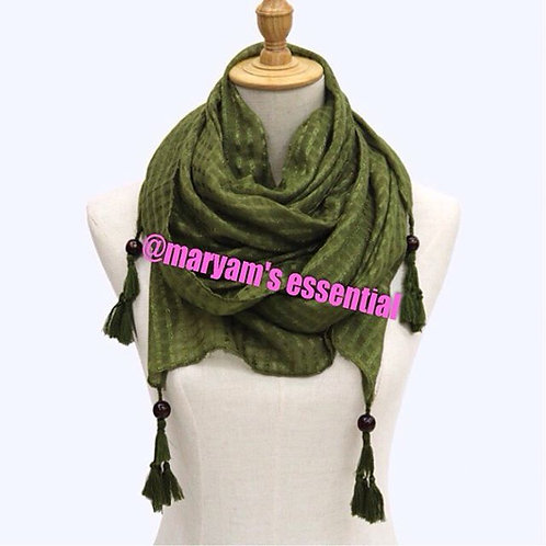 Maryam's Diamond Style Latest Polyester Beads Snood Hijab
