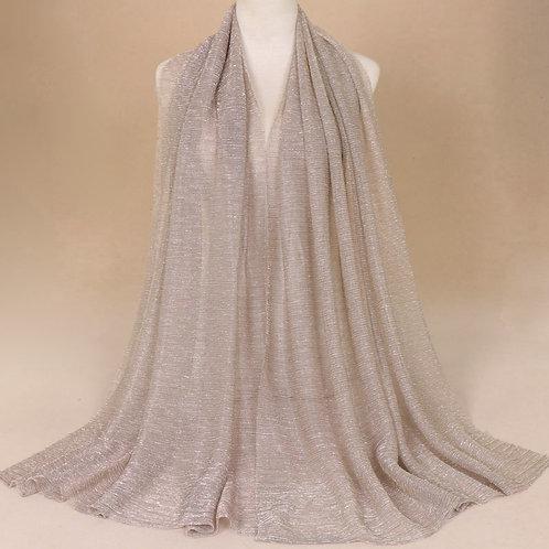 Maryam's Diamond Style Newest Shimmer Polyester Crinkle Hijab
