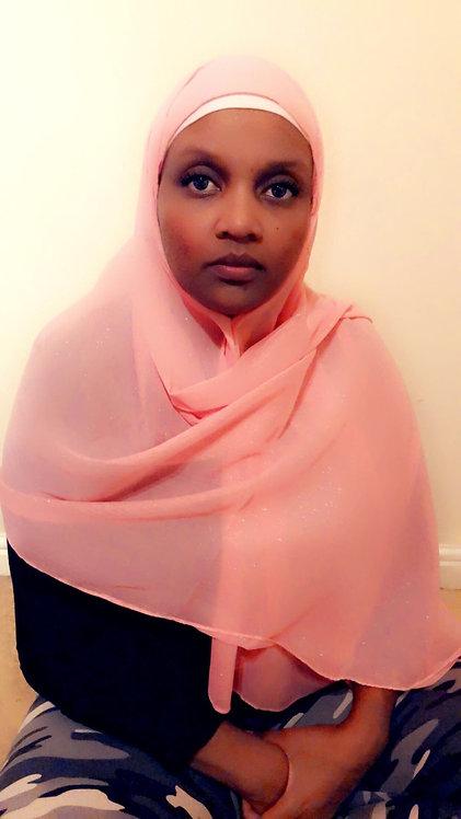 Maryam's Diamond Style Plain Shiny Chiffon Hijab