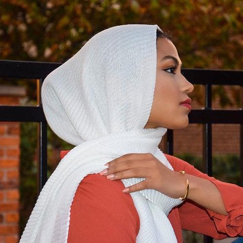 Maryam's Diamond Style Ridge Viscose Crumpled  Hijab