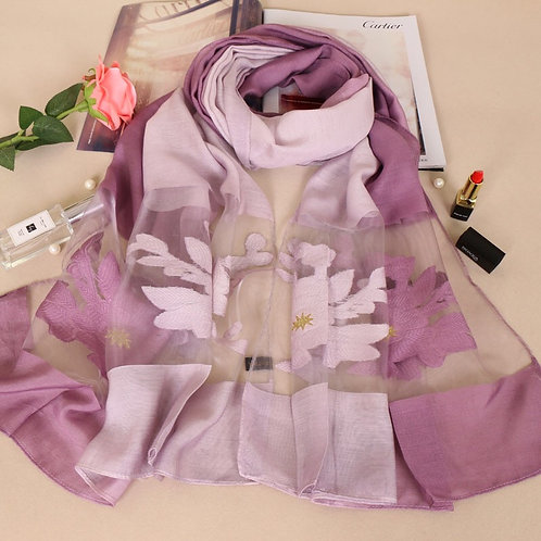 Maryam's Diamond Style Silk Soft Shawl/Hijab